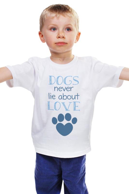 Детская футболка классическая унисекс Printio Собаки любят майка классическая printio война никогда не меняется