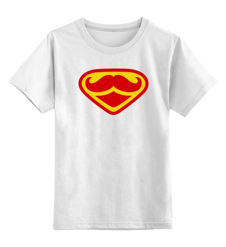 Детская футболка классическая унисекс Printio Супермен-усач-бородач