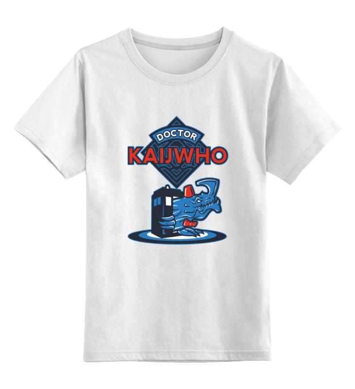 Детская футболка классическая унисекс Printio Doctor who x kaiju футболка wearcraft premium printio doctor who x kaiju