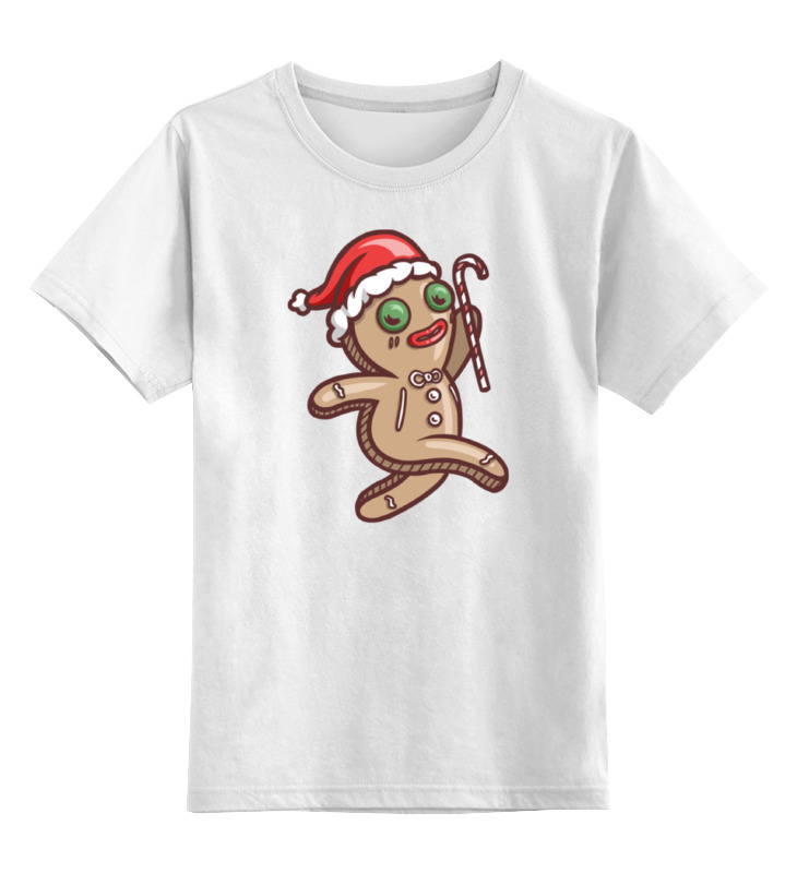 Детская футболка классическая унисекс Printio Печенько (новый год) цена и фото