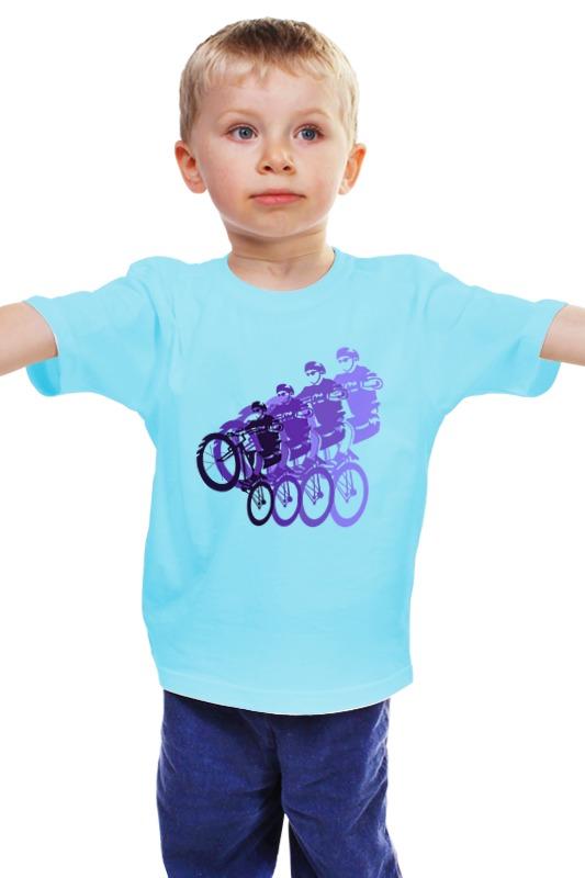 Детская футболка классическая унисекс Printio Велосипедисты детская футболка классическая унисекс printio мачете