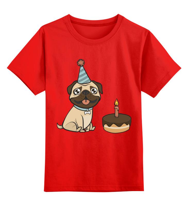 Детская футболка классическая унисекс Printio Мопс. smoby детская горка king size цвет красный