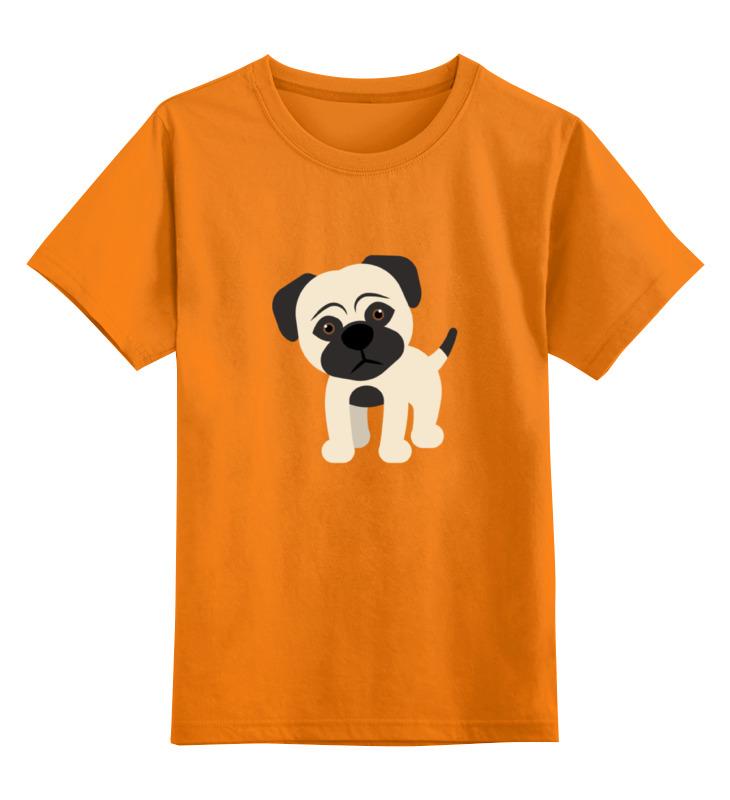 Детская футболка классическая унисекс Printio Мопс.