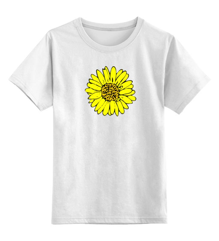 Фото - Детская футболка классическая унисекс Printio Sunflower pu leather faux pearl sunflower choker