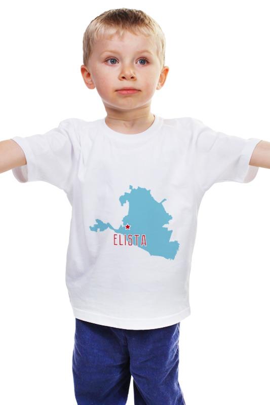 Детская футболка классическая унисекс Printio Республика калмыкия. элиста