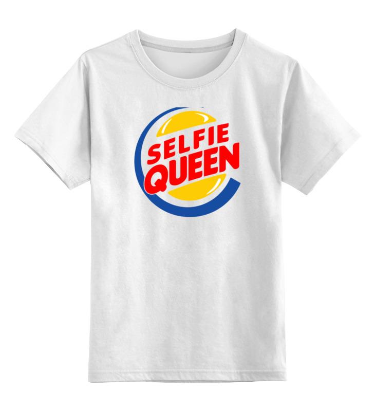 Детская футболка классическая унисекс Printio Королева селфи детская футболка классическая унисекс printio ведьма селфи