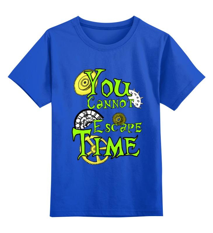 Детская футболка классическая унисекс Printio Time время течёт цена и фото