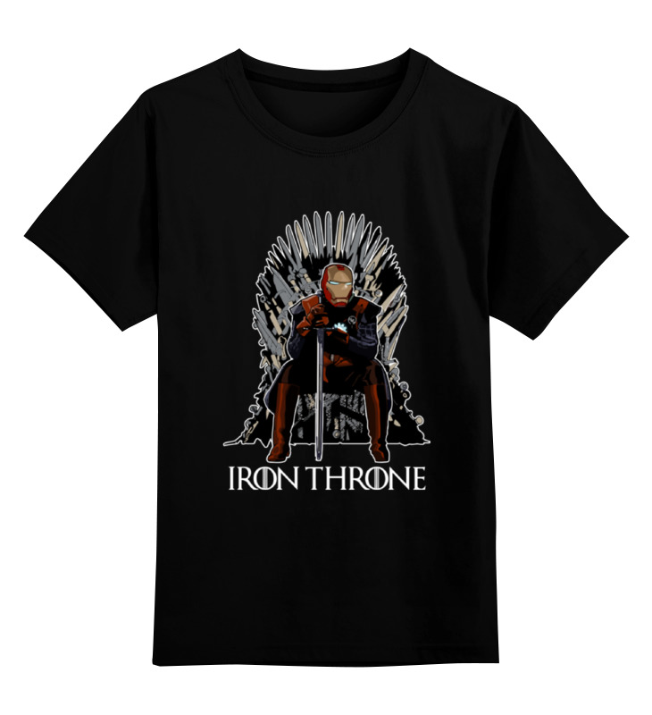Детская футболка классическая унисекс Printio Iron throne майка print bar iron throne