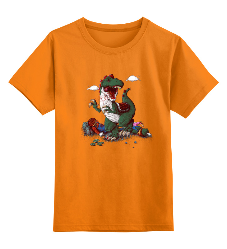 Детская футболка классическая унисекс Printio Прожорливый крокодил
