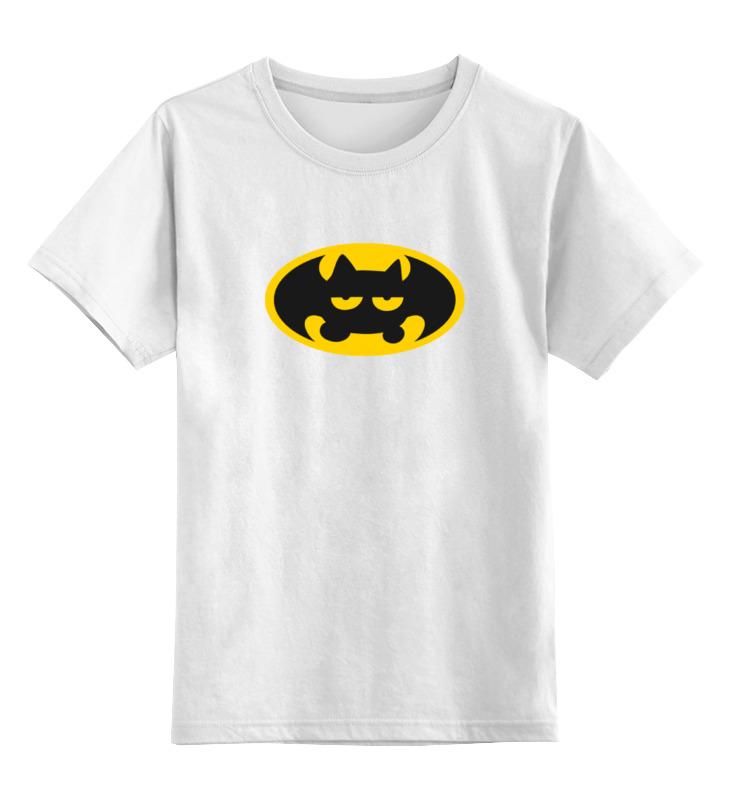 Детская футболка классическая унисекс Printio Летучая мышь (бэтмен)