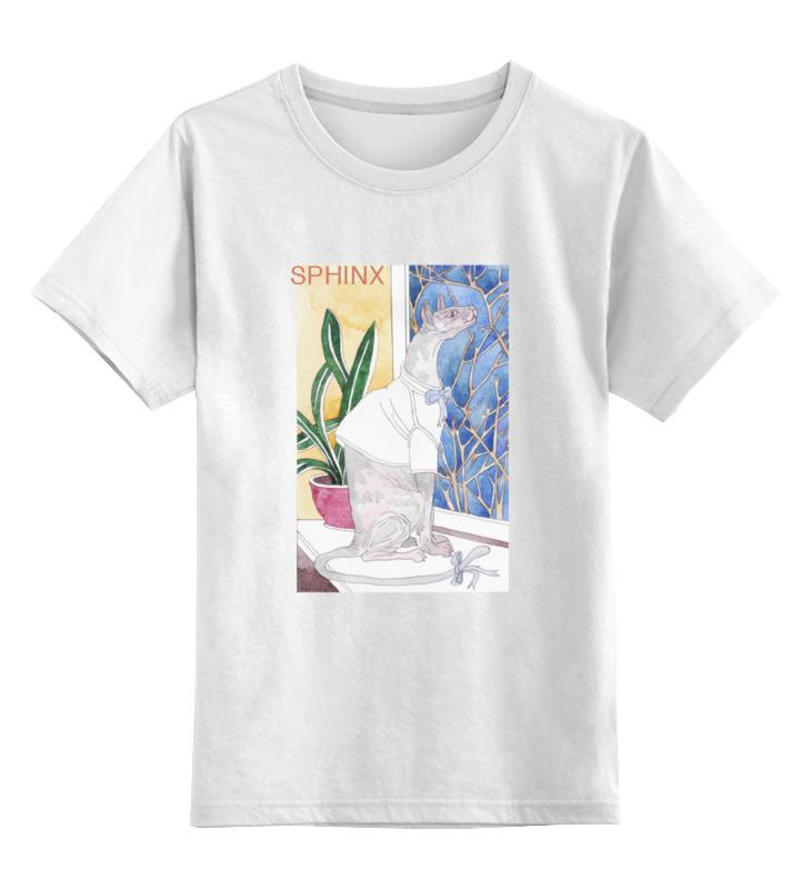 Детская футболка классическая унисекс Printio Сфинкс у окна окна
