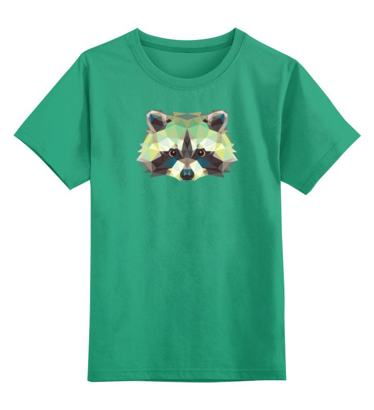 цены Детская футболка классическая унисекс Printio Полигональный енот