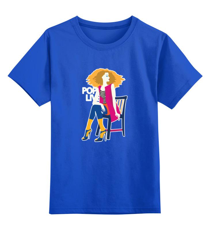 Детская футболка классическая унисекс Printio Поп арт дизайн. красивая девушка в полосатой майке