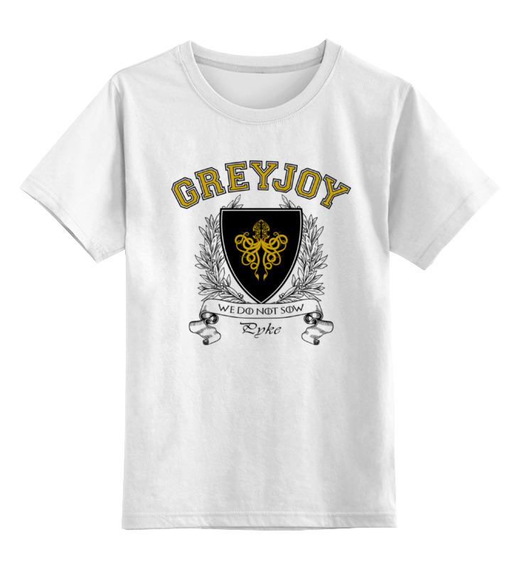 Детская футболка классическая унисекс Printio Игра престолов. дом грейджоев детская футболка классическая унисекс printio игра слов