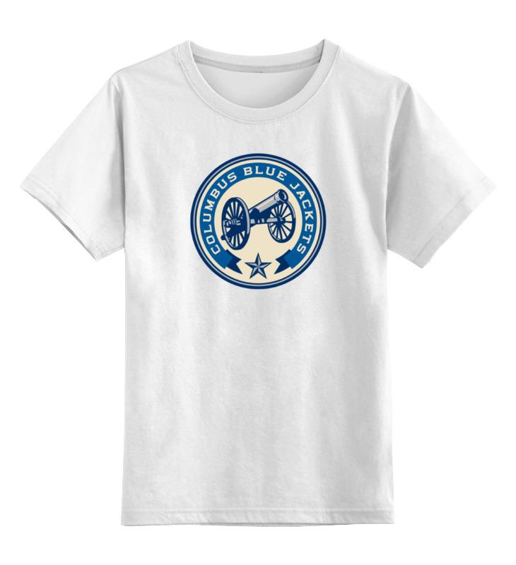 Детская футболка классическая унисекс Printio Columbus blue jackets motul 4100 multi diesel 10w40 1л