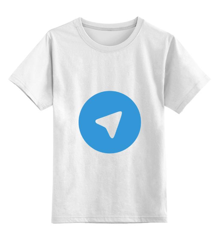 Детская футболка классическая унисекс Printio Логотип telegram цена и фото