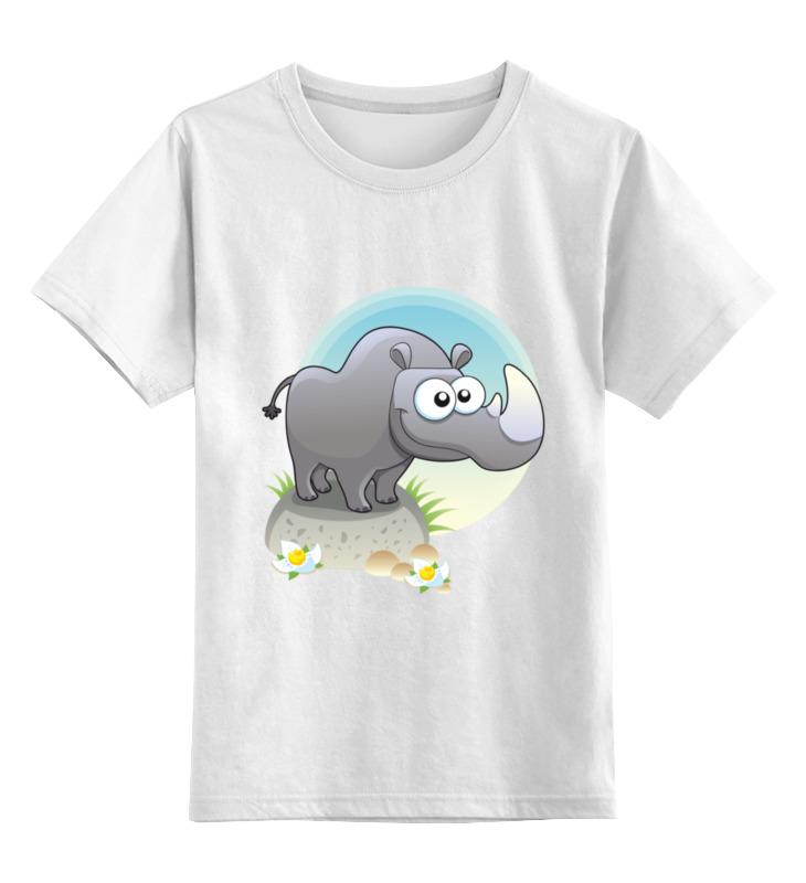 Детская футболка классическая унисекс Printio Носорог
