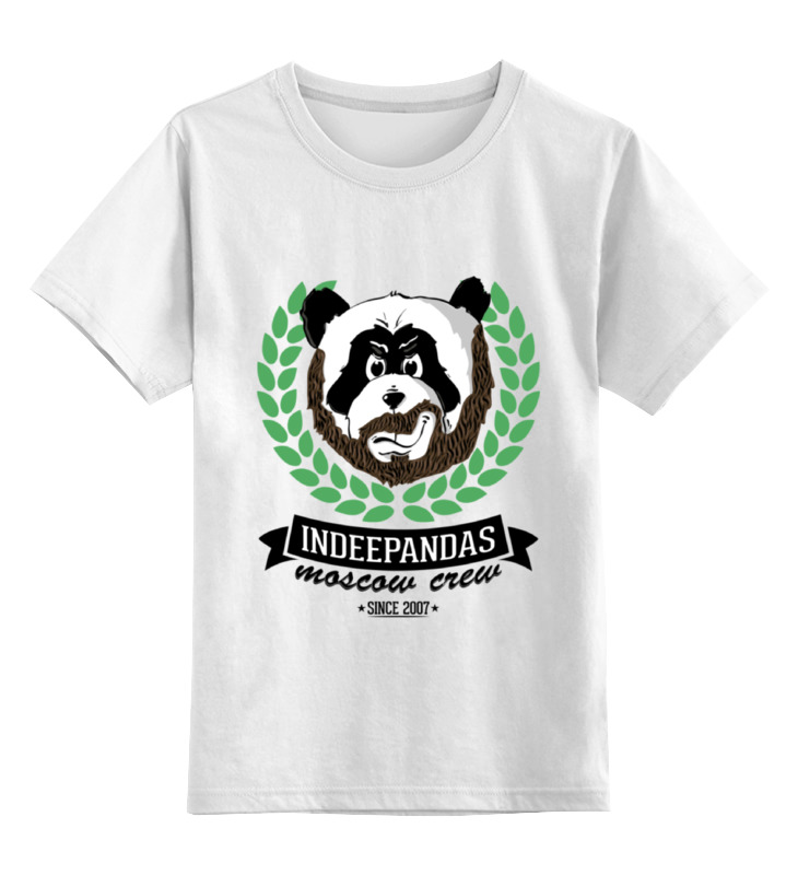 Детская футболка классическая унисекс Printio Indeepandas moscow crew цена и фото
