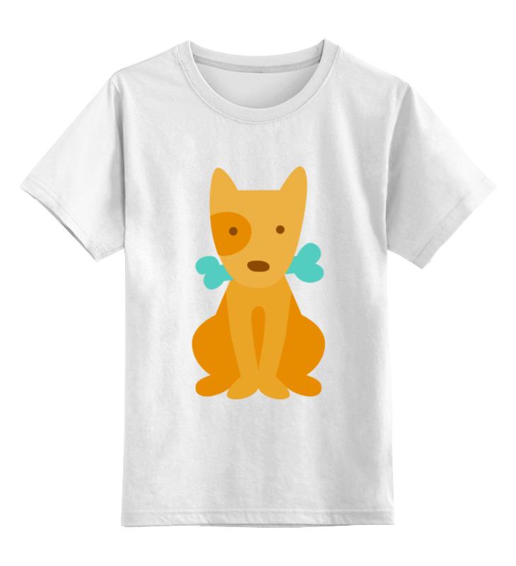 Детская футболка классическая унисекс Printio Щенок с косточкой мягкие игрушки maxitoys щенок с косточкой 12 см