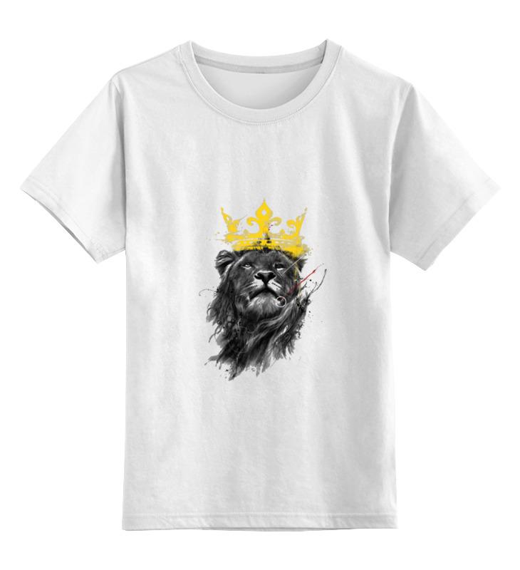 Детская футболка классическая унисекс Printio Lion king smoby детская горка king size цвет красный