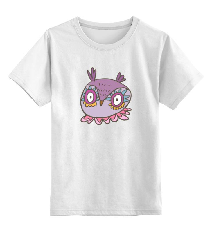 Детская футболка классическая унисекс Printio Этно сова цена и фото