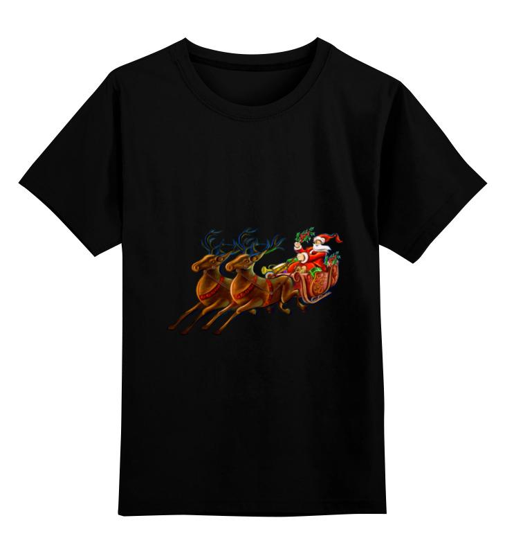 Детская футболка классическая унисекс Printio Санта клаус недорого