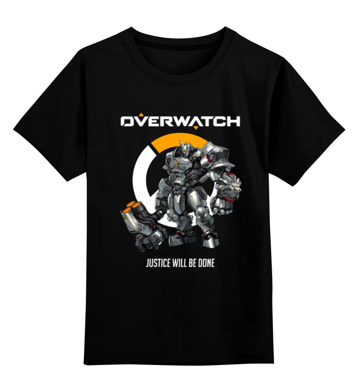 Детская футболка классическая унисекс Printio Overwatch. райнхардт