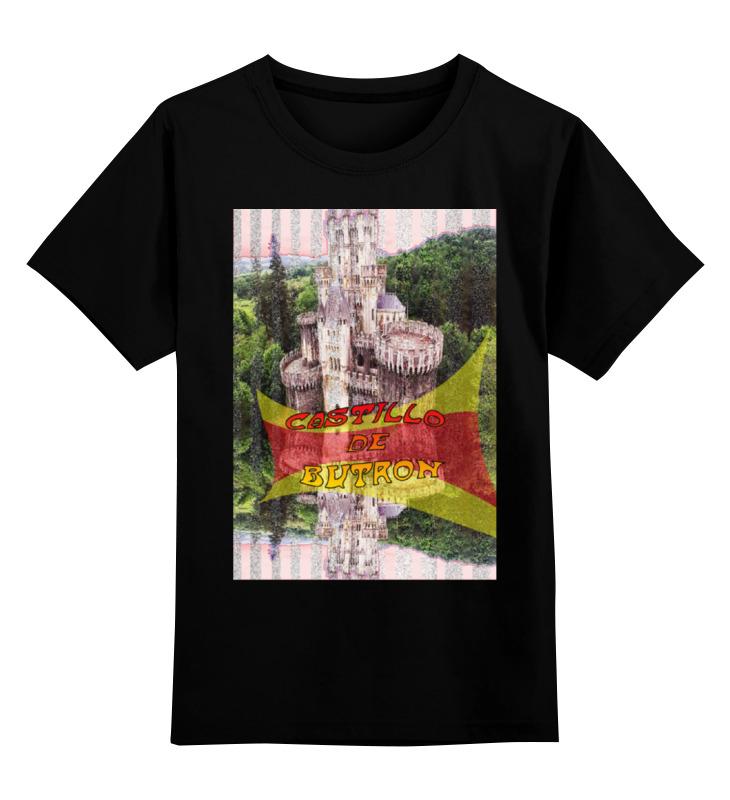 Детская футболка классическая унисекс Printio Замки испании. замок бутрон deroace велосипедный цепной стальной замок для электрокара электро мотороллера мотора