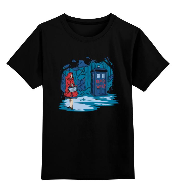 Детская футболка классическая унисекс Printio Красная шапочка и тардис детская футболка классическая унисекс printio красная шапочка и тардис
