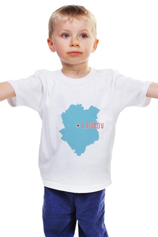 Детская футболка классическая унисекс Printio Тамбовская область. тамбов элементы для аккумулятора тамбов