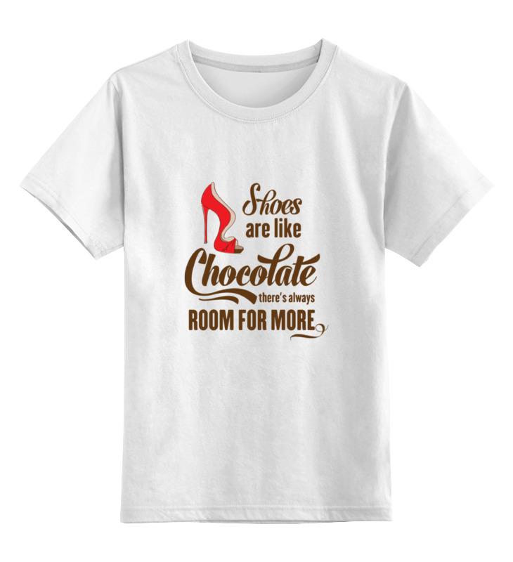 Детская футболка классическая унисекс Printio Туфли как шоколад, для них всегда найдется место лонгслив printio туфли как шоколад для них всегда найдется место