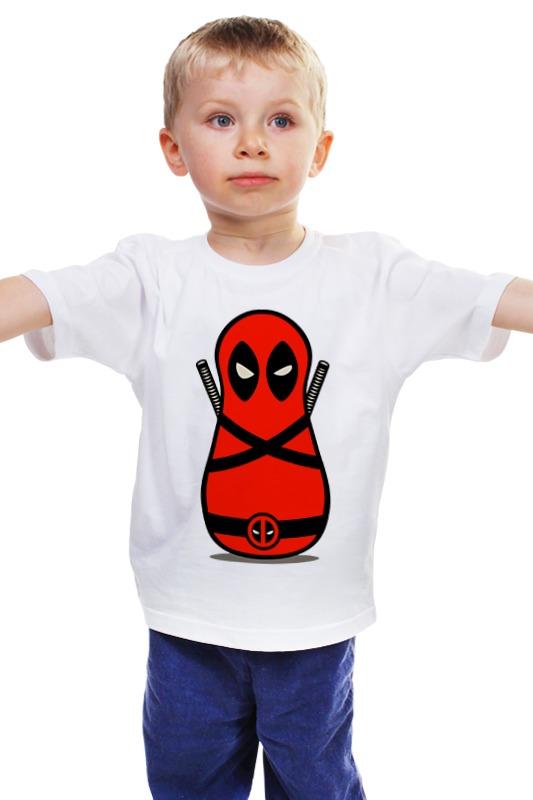 Детская футболка классическая унисекс Printio Дэдпул матрешка детская футболка классическая унисекс printio матрешка