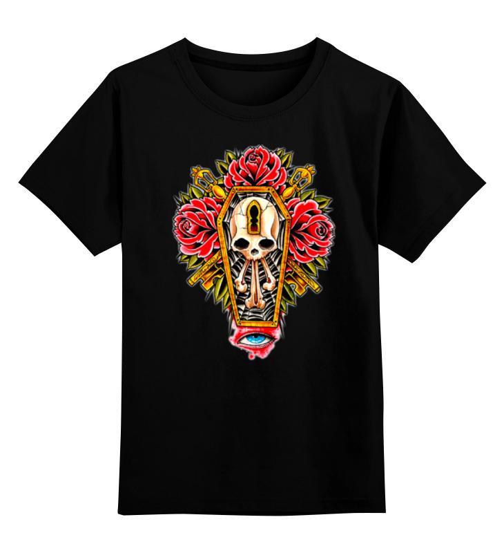 цена на Детская футболка классическая унисекс Printio Horror art