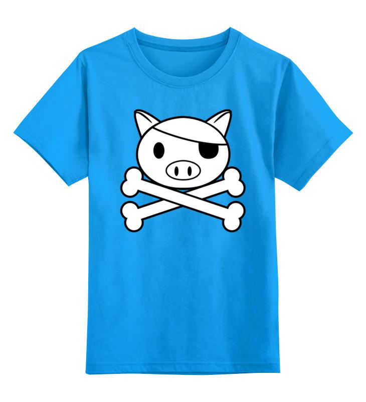 Детская футболка классическая унисекс Printio Свинья - пират детская футболка классическая унисекс printio свинья пират