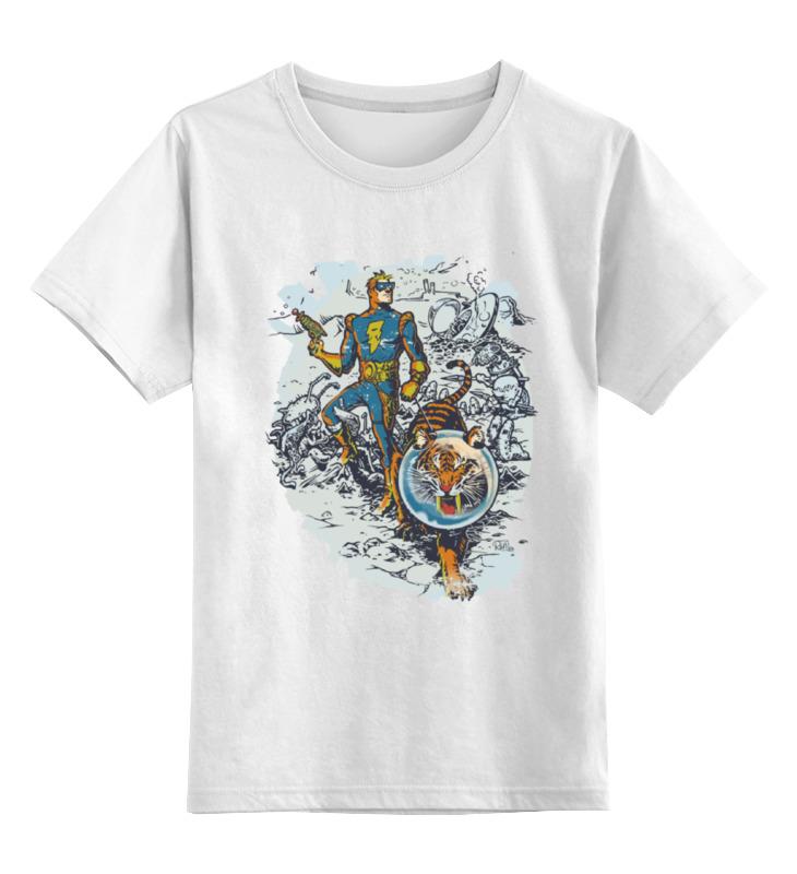 Детская футболка классическая унисекс Printio Calvin, the spiffy spaceman футболка классическая printio calvin the spiffy spaceman