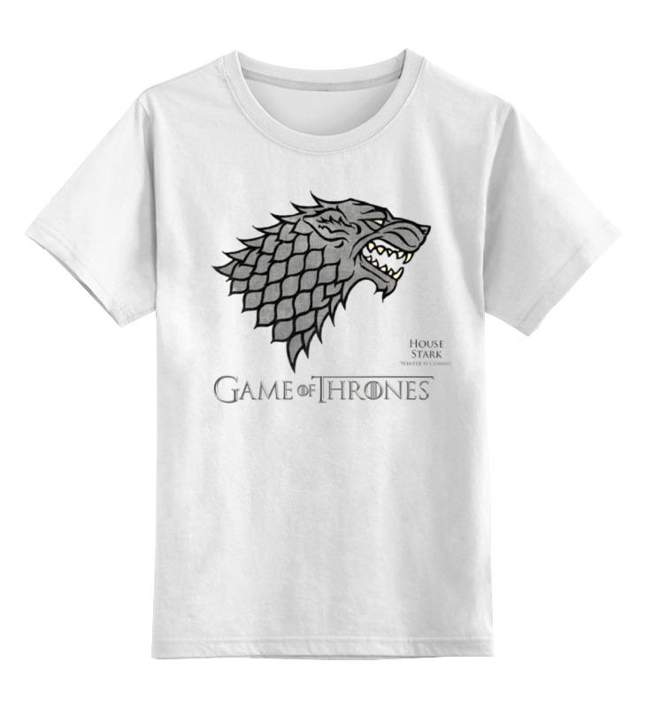 Детская футболка классическая унисекс Printio Game of thrones футболка для беременных printio game of thrones