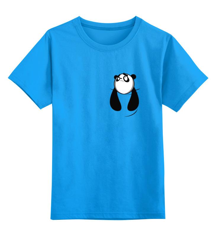 Детская футболка классическая унисекс Printio Панда в кармане стоимость