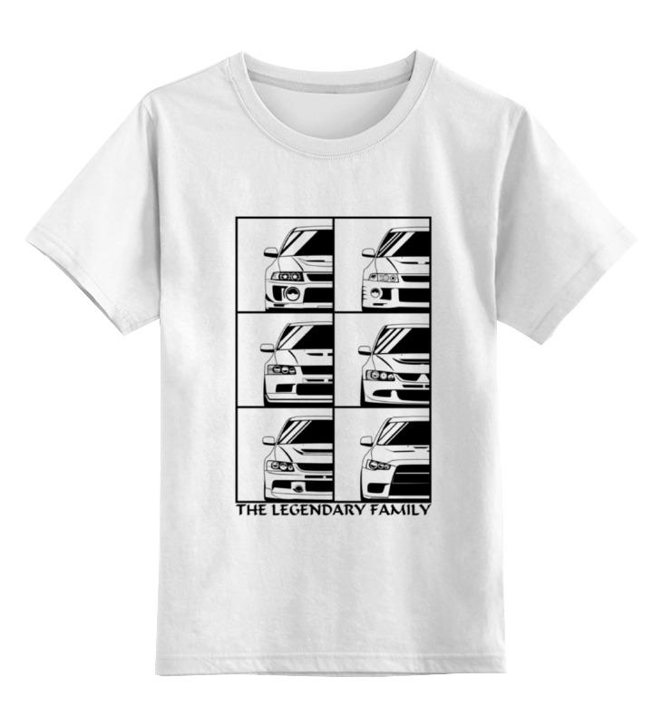 Детская футболка классическая унисекс Printio Mitsubishi lancer evolution цены онлайн
