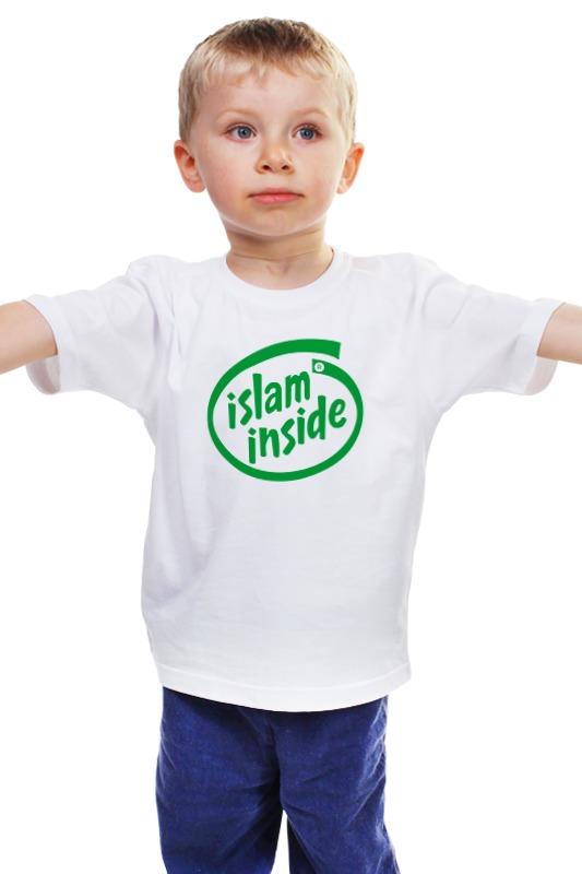 Детская футболка классическая унисекс Printio Ислам внутри zamzam zamzam люблю ислам