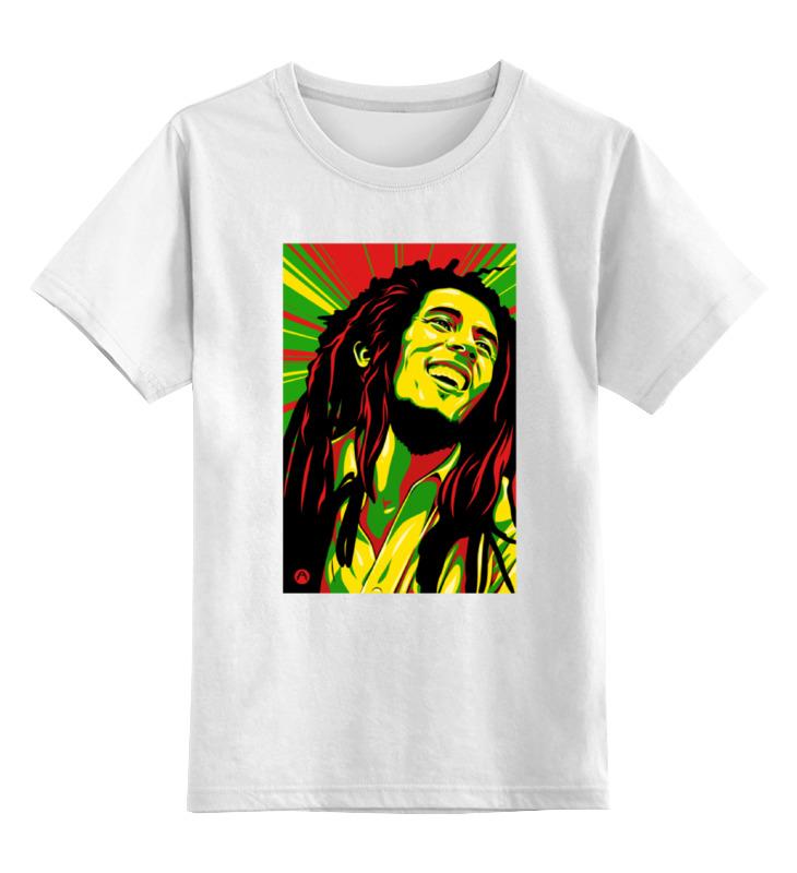 Детская футболка классическая унисекс Printio Боб марлей