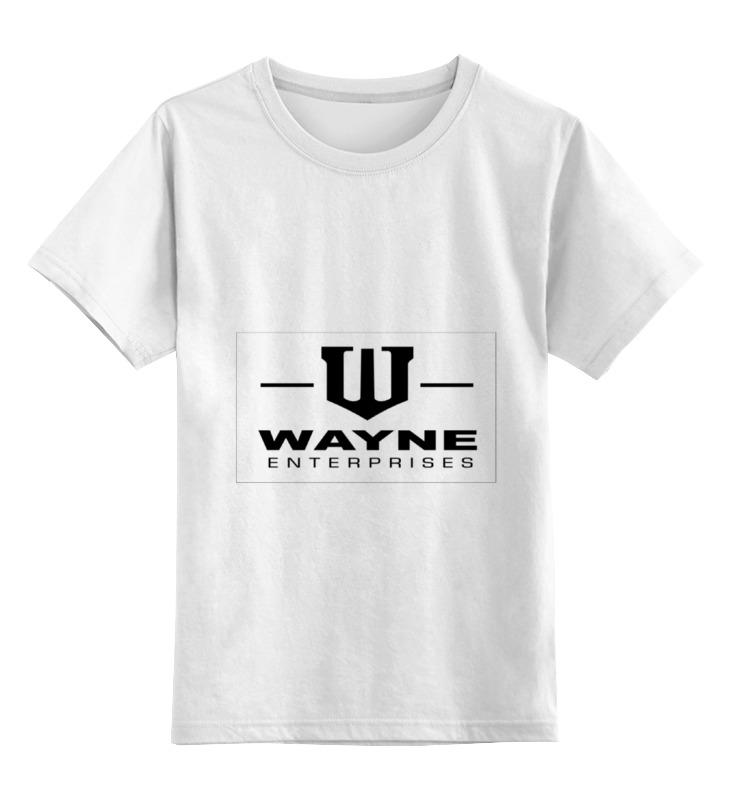 Детская футболка классическая унисекс Printio Wayne enterprises футболка рингер printio wayne enterprises