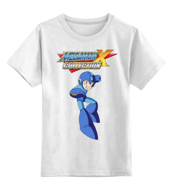 Детская футболка классическая унисекс Printio Megaman x