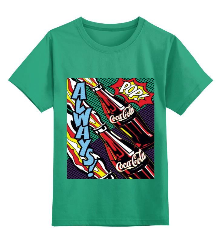 Детская футболка классическая унисекс Printio Coca-cola доска торцевая 2000х50х10 мм oak дуб