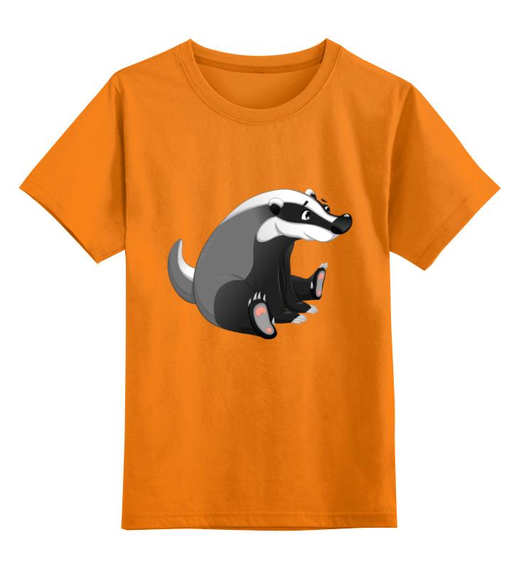Детская футболка классическая унисекс Printio Забавный  барсук детская футболка классическая унисекс printio рога