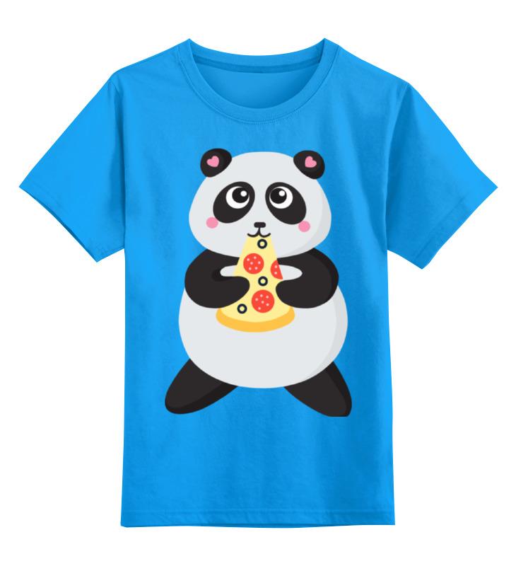 все цены на Детская футболка классическая унисекс Printio Панда обжора онлайн
