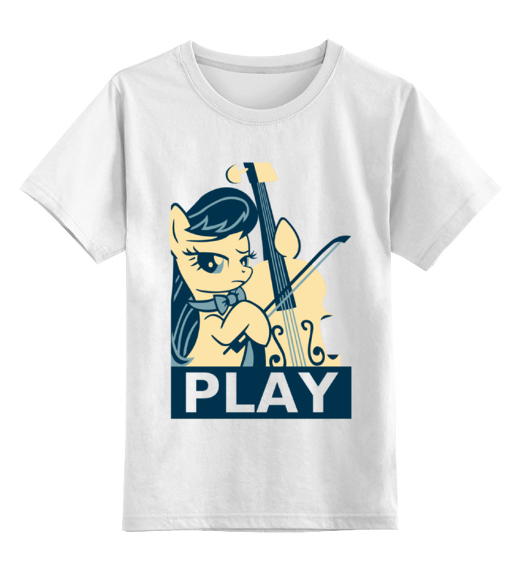 Детская футболка классическая унисекс Printio Mlp octavia play майка классическая printio play
