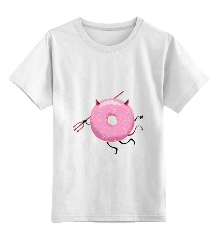 Детская футболка классическая унисекс Printio Демонический пончик