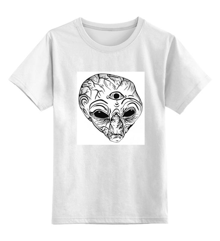 Детская футболка классическая унисекс Printio Инопланетянин блокнот printio я тебя вижу