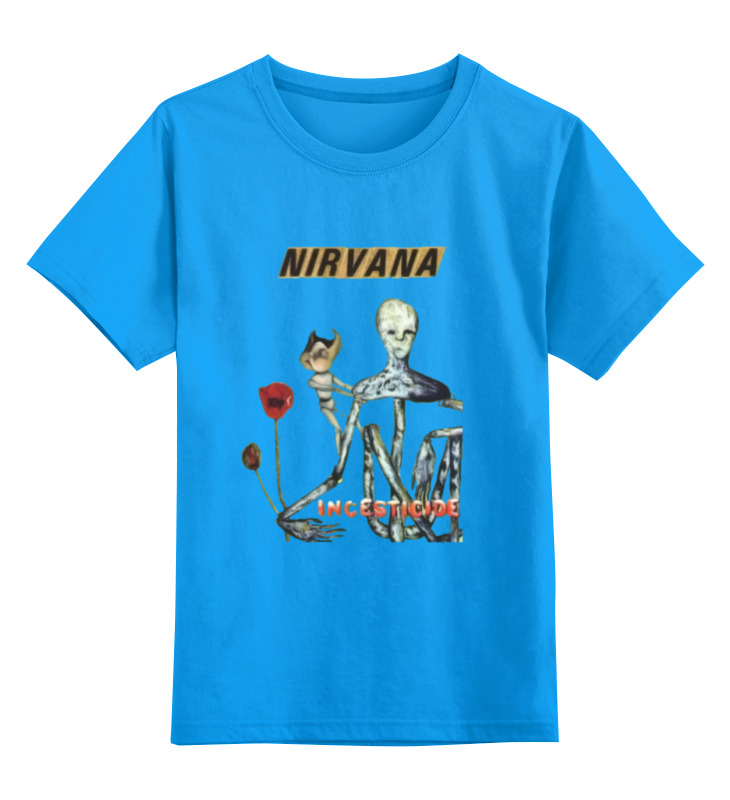 Детская футболка классическая унисекс Printio Nirvana incesticide album t-shirt футболка wearcraft premium slim fit printio nirvana incesticide album t shirt