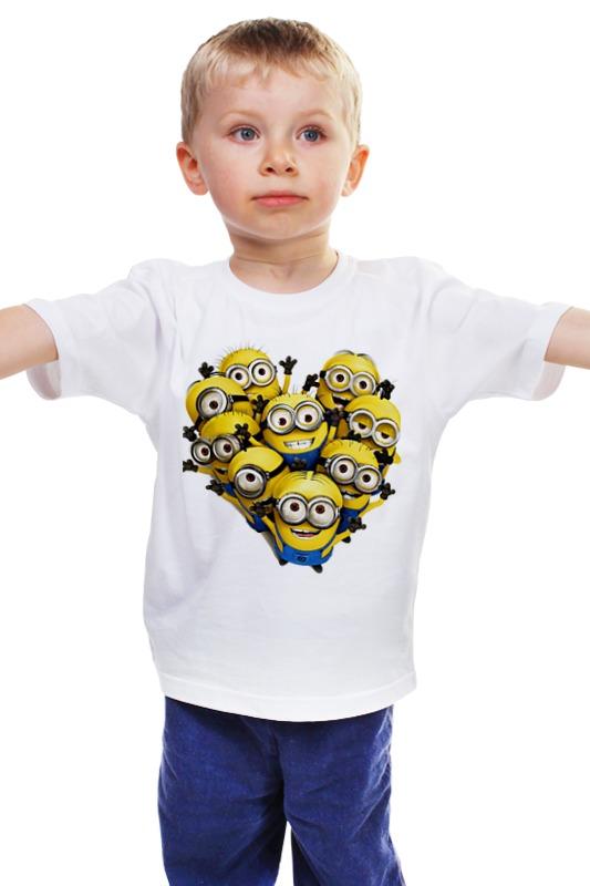 Детская футболка классическая унисекс Printio Миньоны детская футболка классическая унисекс printio мотоцикл